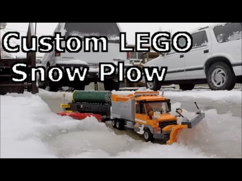 Custom LEGO Snow Plow With TowPlow Concept in Snow! (Short Edit)