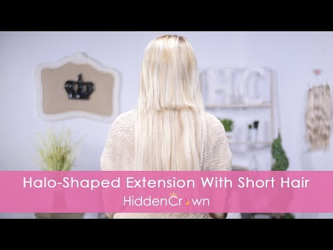 Halo-Shaped Extension with Short Hair - Hidden Crown