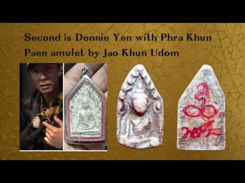 Thai amulets with well known people around the world