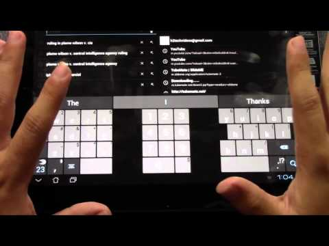 How to Get a Split Keyboard on an Android Tablet