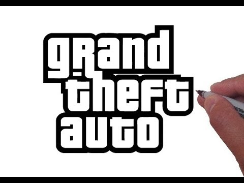 How to Draw the Grand Theft Auto Logo