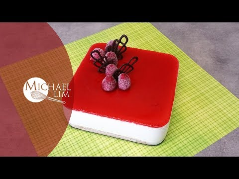 Chilled Cheese Cake With Strawberry Glaze