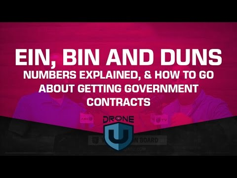 EIN, BIN & DUNS numbers explained, plus how to go about getting government contracts