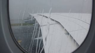 A380 Breathtaking Landing During Heavy Storm HD