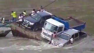 Car fails in water [ SINKING VEHICLES COMPILATION]