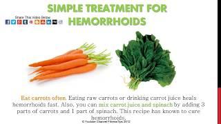 Hemorrhoids Home Treatment Relief Recipes