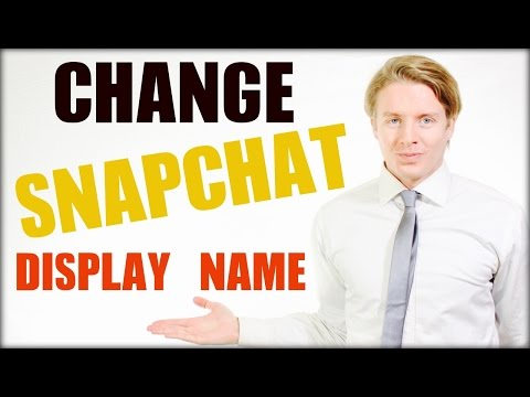 How to change your Snapchat display name in 2016 tutorial