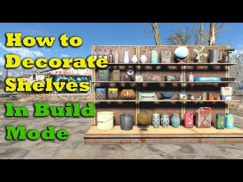 Fallout 4 Tips & Tricks: How to Decorate Lower Shelves in Build Mode