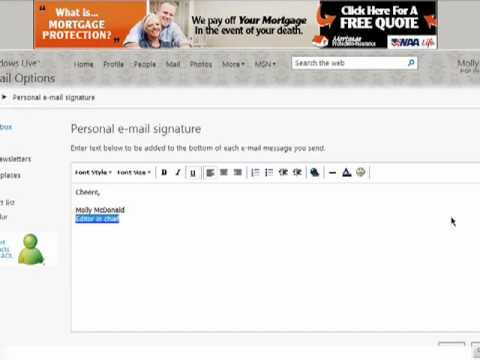 How to create Hotmail e-mail signatures