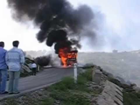 Burning Bus in Lebanon