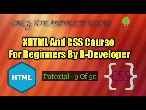 [HINDI] XHTML And CSS Tutorial By R Developer - 9 - Bold b , Italicize I , center Tags.