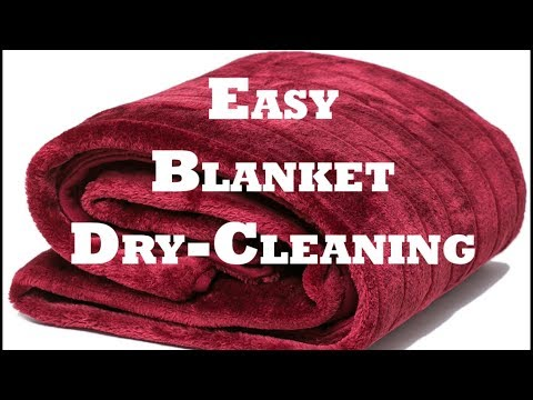 How to Dry Clean Blanket in English | Blanket Dry-Cleaning in English.