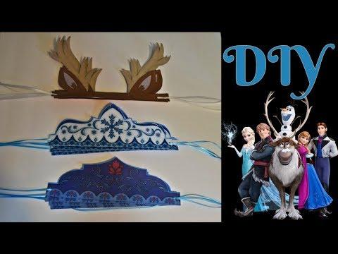 Diademas/Coronas para fiesta de frozen ❄ DIY Frozen crowns