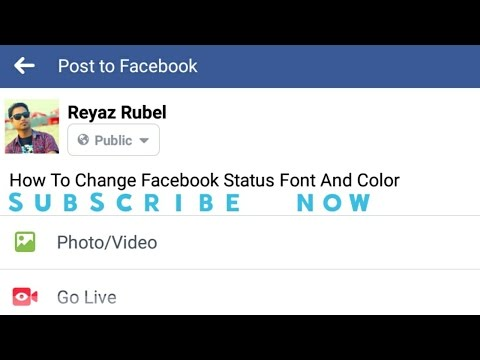 Change Facebook Status Style Font and Color | 2017 | Not Possible Directly On Facebook