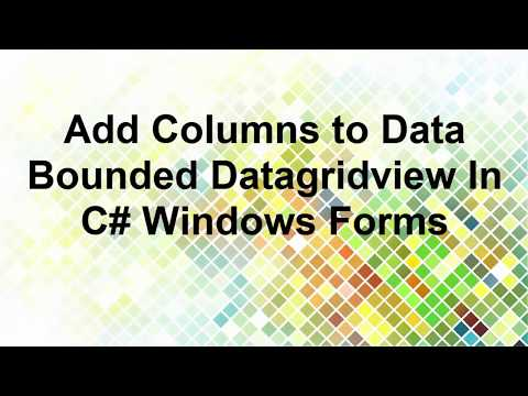Add columns to data bounded datagridview C#