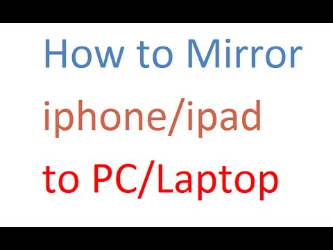 How to mirror iPhone/iPad to PC/laptop - how to connect iOS to windows