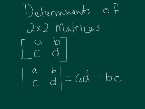 Determinants of 2x2 Matrices