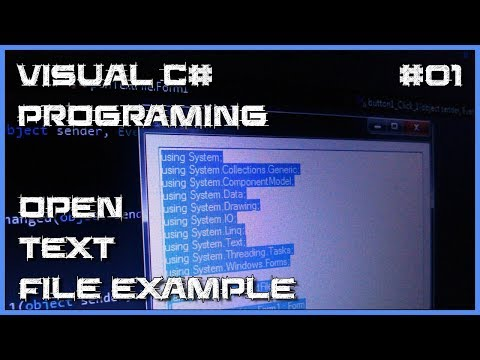 Visual C# 01 - How to open text file into textbox