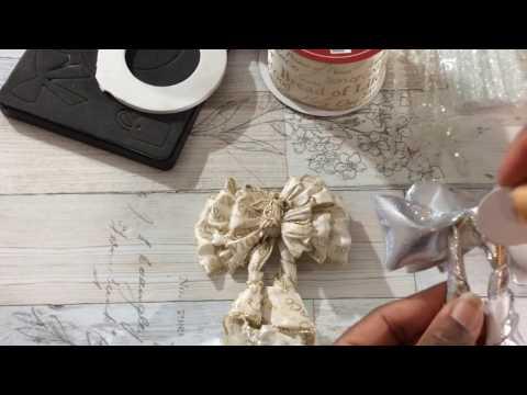 DIY Handmade Christmas Ornaments TUTORIAL: Jumbo Paperclip Ribbon Bow Wreath