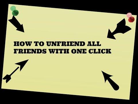 how to unfriend  facebook friends in one click