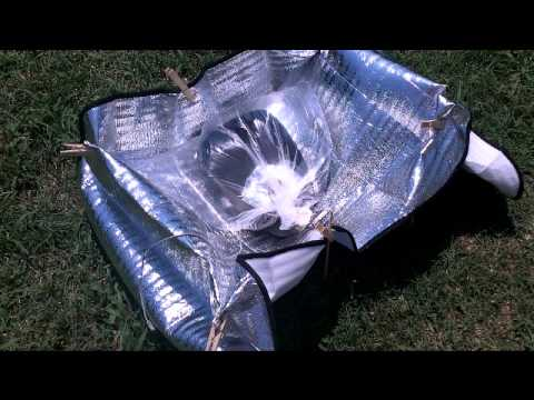 Solar oven from dollar store items.