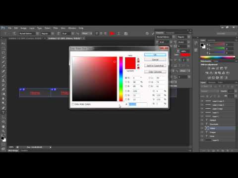 How to create a navigation bar with rollover effects in Photoshop CS6