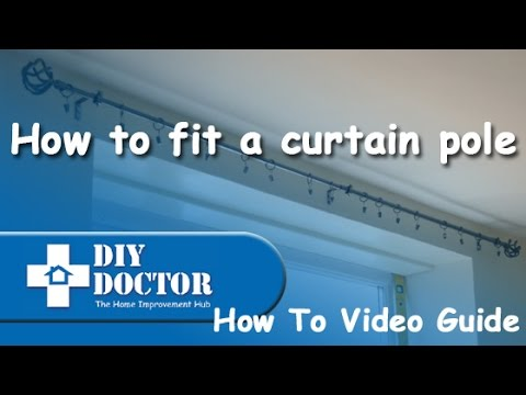 Fitting a curtain pole
