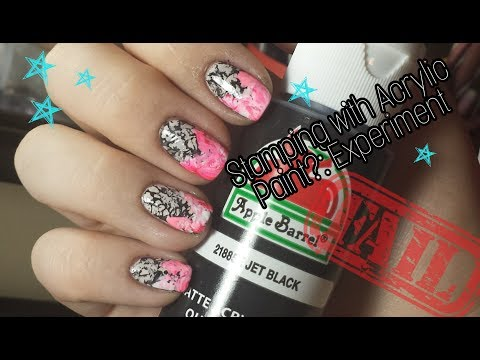 Nail Stamping with ACRYLIC PAINT Fail! - Marbled Tie Dye Nails!