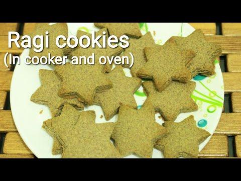 Ragi cookies in cooker and oven - Cookies recipe - Ragi cookies - Millet cookies - Finger millet