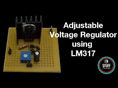 DIY | How to build ADJUSTABLE VOLTAGE REGULATOR using LM317 with SHORT CIRCUIT PROTECTION