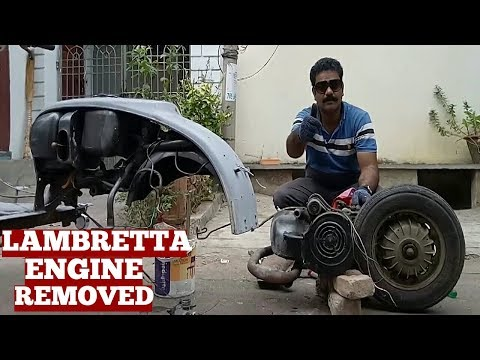 How To Remove Engine Lambretta Scooter-Engine Removal Steps-Engine Removal The Fast Way At Home