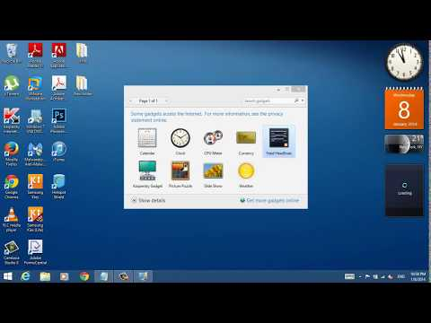 How To Get  The Desktop Gadgets In Windows 8.1
