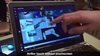 AirBar adds touch to notebooks with no touchscreen
