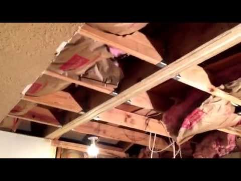 Removing and supporting a load bearing wall with a hidden beam - Part 4