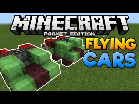 FLYING CARS in MCPE!!! - How To Build A Flying Car In Minecraft PE (Pocket Edition)