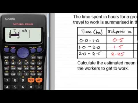Casio fx calculators : Mean from Grouped Frequency Tables : ExamSolutions
