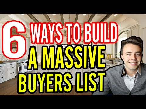 Cash-Buyer List in Real-Estate (6 Ways To Build a MASSIVE List)