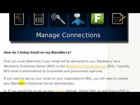 Blackberry Tips -- Turn on Radio and Setup Email