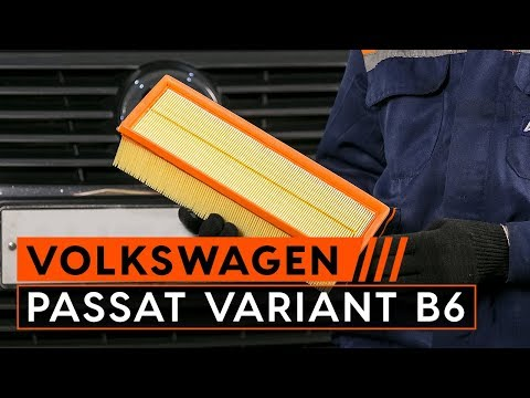 How to replace air filter VW PASSAT VARIANT B6 (3C5) [TUTORIAL AUTODOC]