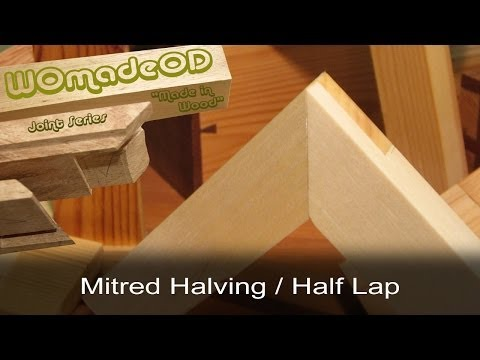 Mitred Halving Joint (a.k.a. Mitred Half Lap, Lapped Mitre Joint....)