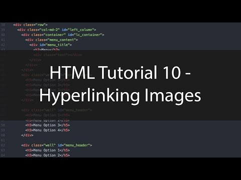 HTML Tutorial 10 - Hyperlinking Images