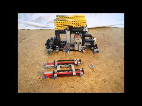 LEGO Technic Mobile Scissor Lift Hoist Platform Building Instructions