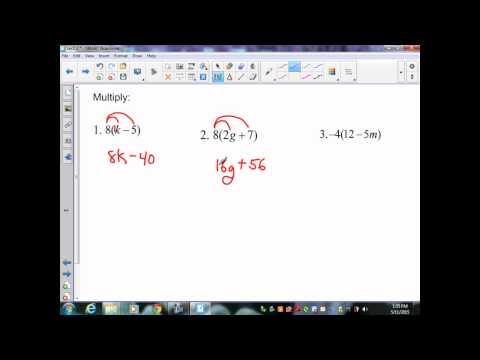 sec2 2 Pre Algebra The Distributive Property