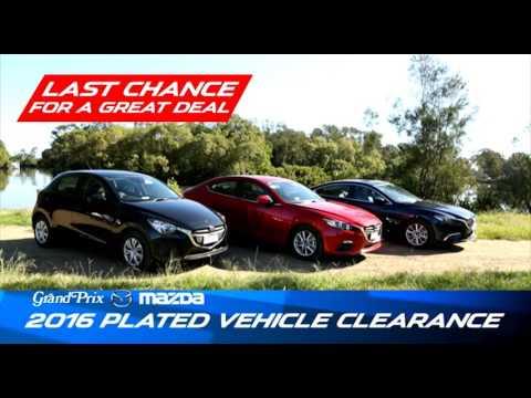 Grand Prix Mazda Plate Clearance