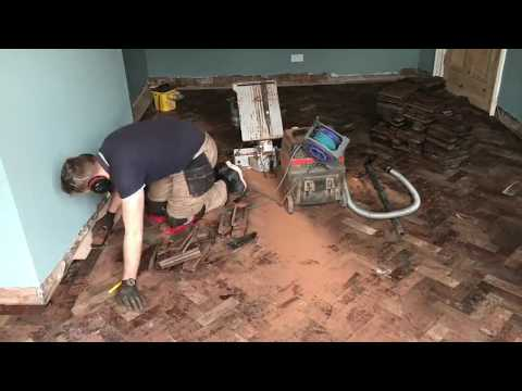 Liverpool reclaimed parquet floor installation time-lapse Passion Floors
