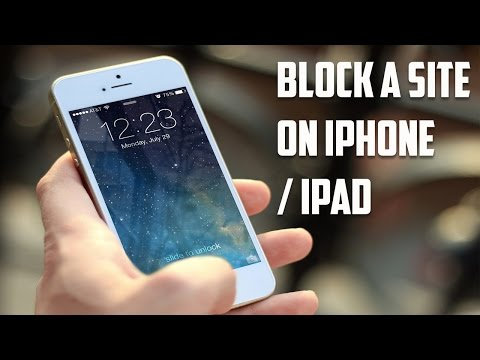 How to block a website on iPhone/ iPad
