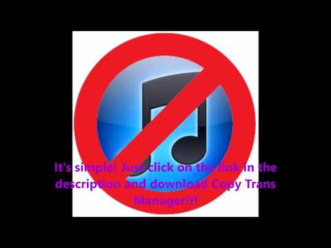 How to put music on your iphone/ipod WITHOUT ITUNES!!!
