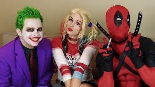 Deadpool, Joker, Harley Quinn - Blindfold Drawing Challenge!