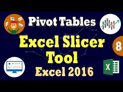Ms Excel 2016 PivotTables | Create Excel Slicer Dashboard | Filtering Using Slicer