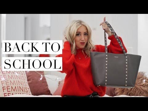 WHAT'S IN MY SCHOOL BAG | Back To School/University 2017